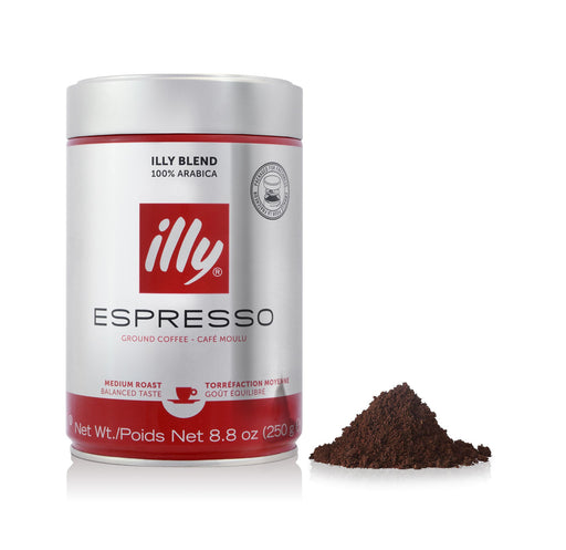 illy Medium Roast Ground Espresso, 8.8 oz (250 g)