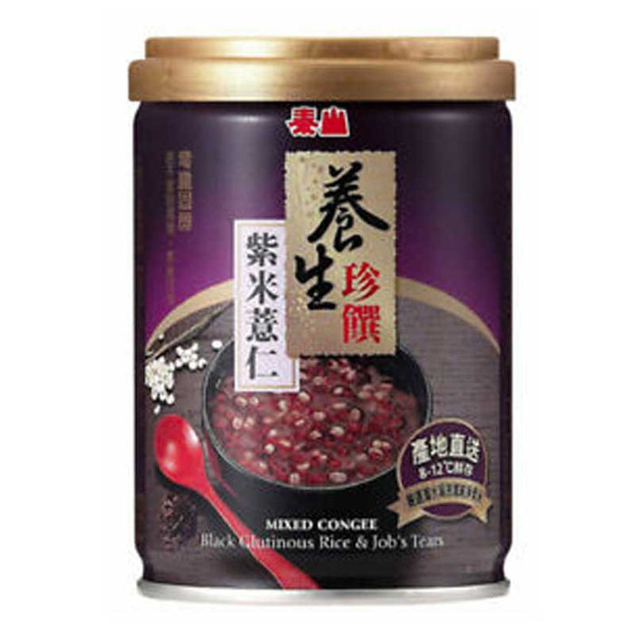 Taisun Mixed Congee, Black Rice Job's Tears, 9 oz (255g)