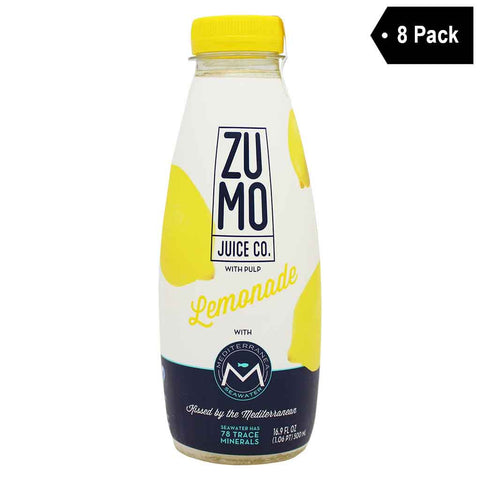 ZUMO Lemonade, Made With Mediterranea Seawater (16.9 fl. oz. x 8)