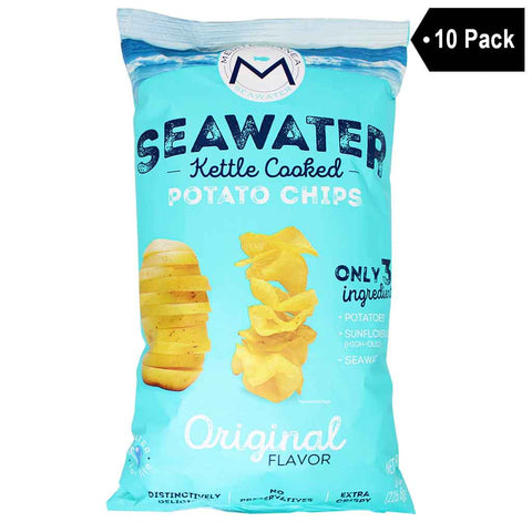 Mediterranea Seawater Seawater Kettle Cooked Potato Chips (8 oz. x 10)