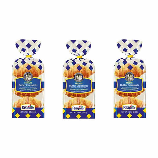 Brioche Pasquier French Butter Croissants 8.5 oz x 3