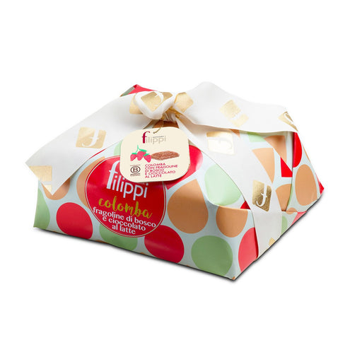 Filippi Colomba Cake with Wild Strawberries and Milk Chocolate, 2.2 lb (1000 g)
