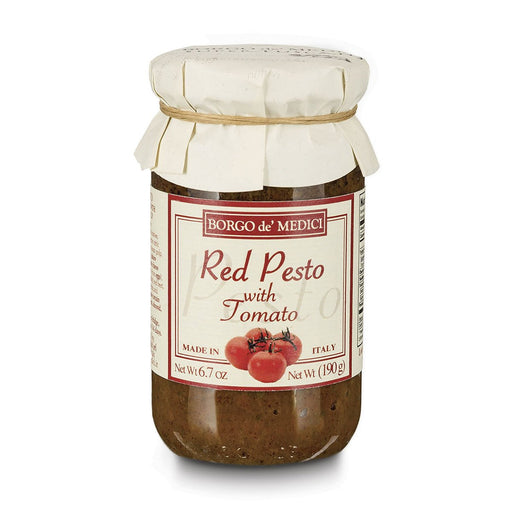 Borgo de Medici Red Pesto Pasta Sauce with Tomato, 13.4 oz (190 g)