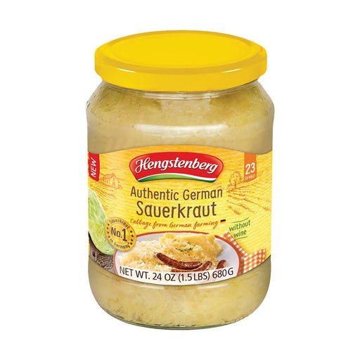 Hengstenberg Authentic German Sauerkraut, 1.5 lb (680 g)