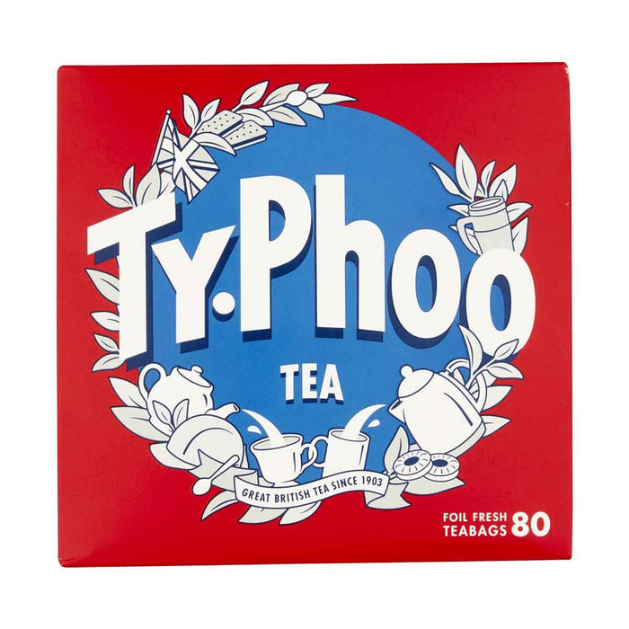 Typhoo Tea Typhoo Black Tea 80 Tea Bags, 8.2 oz (232 g)