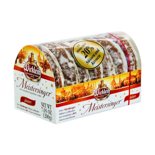 Wicklein Glazed Gingerbread with 20% Nuts, 7 oz (200 g)