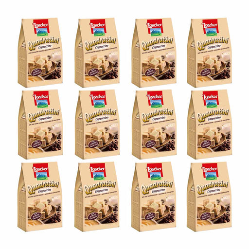 12 Pack Loacker Quadratini Cappuccino 7.7 oz