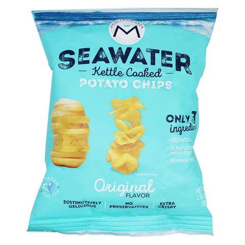 Mediterranea Seawater Seawater Kettle Cooked Potato Chips 1.7 oz. (49 g)