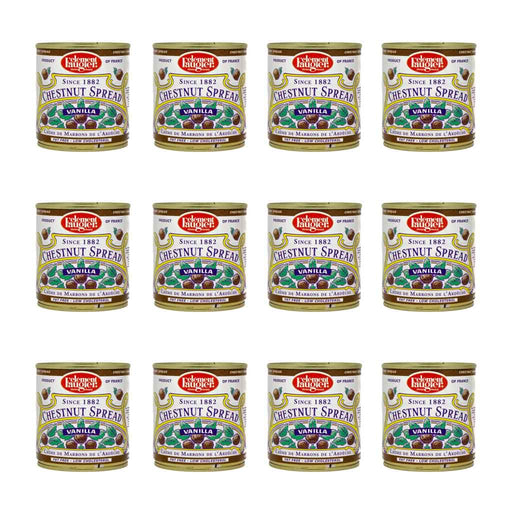 Free Shipping | 12-Pack x 8.7 oz Clement Faugier Vanilla Chestnut Spread