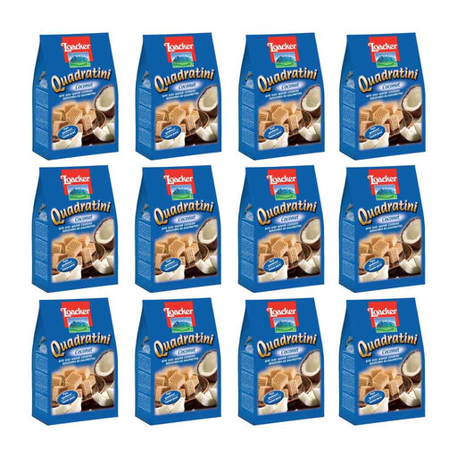 12 Pack Loacker Quadratini Coconut 8.8 oz