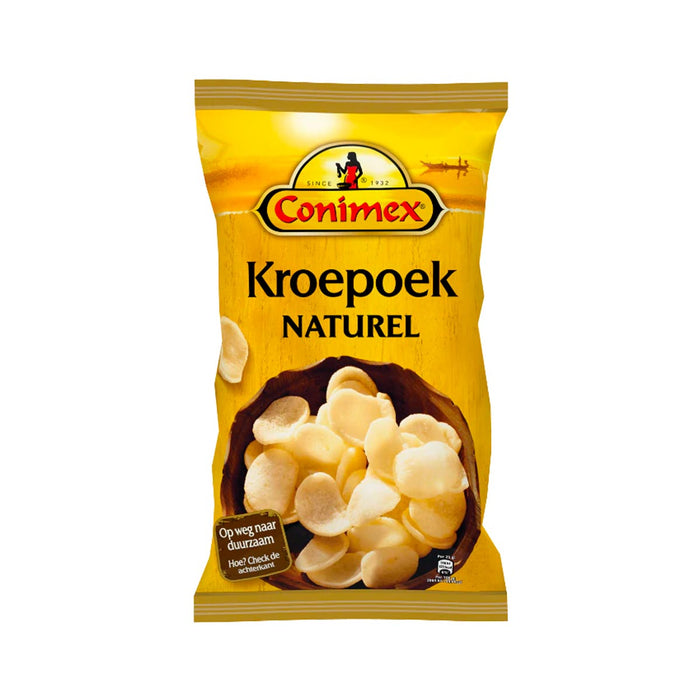 Conimex Kroepoek Prawn Crackers Natural Small Chips, 2.5 oz (71 g)