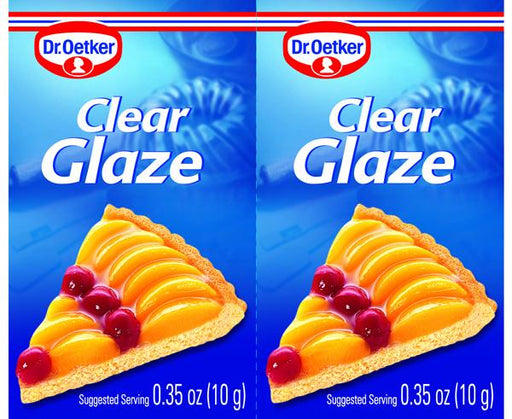 Pack of 2 Clear Cake Glaze by Dr. Oetker, 0.4 oz (10 g)