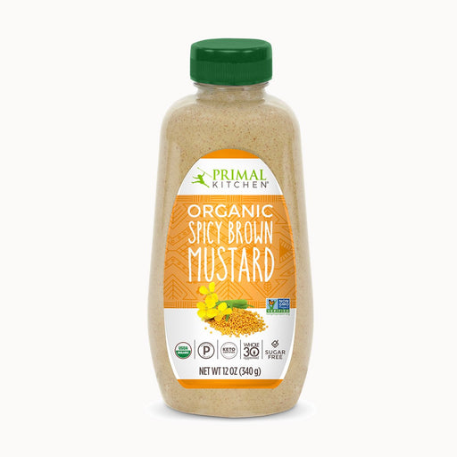 Primal Kitchen Organic Spicy Brown Mustard Sugar Free, 12 oz (340 g)