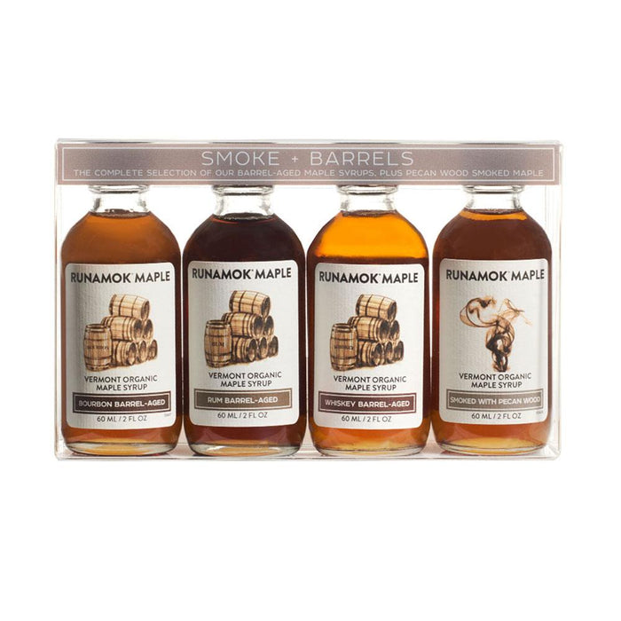 Runamok Maple Smoke and Barrels Organic Maple Syrup Pairing Collection, 2 fl (60 g)