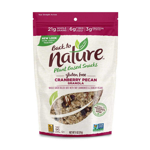 Back to Nature Gluten Free Cranberry Pecan Granola, 11 oz (311 g)