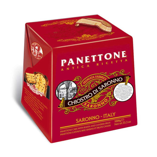 Chiostro di Saronno Classic Pannettone with Raisins and Candied Fruits, 2.2 lbs (1000 g)