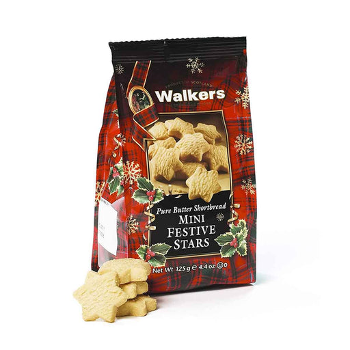 Walkers Festive Stars Shortbread, 4.4 oz (125 g)