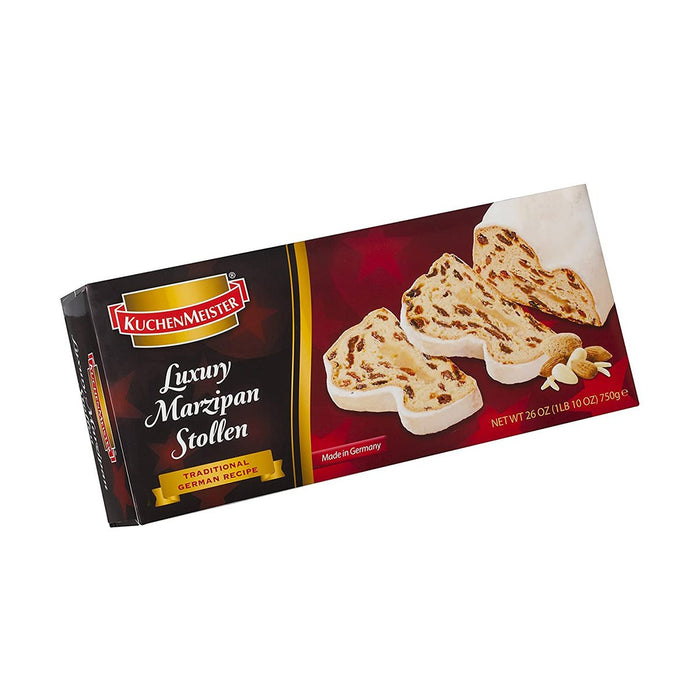 Kuchenmeister Luxury Marzipan Stollen - Large Box, 1.7 lb (750 g)