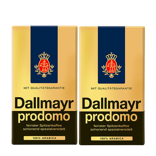 2 Pack Dallmayr Prodomo Ground Roasted Coffee, 17.6 oz (500 g)
