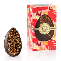 Venchi Gourmet Dark Chocolate Egg with Whole Hazelnuts, 19oz (540g)