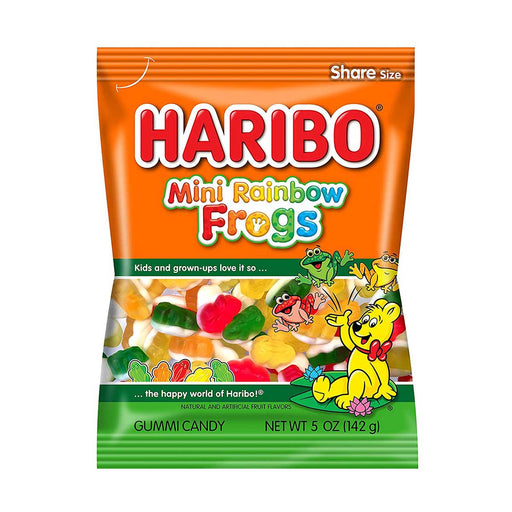 Haribo Mini Rainbow Frogs Gummy Candy, 5 oz (142 g)