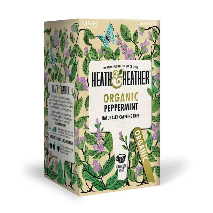 Heath & Heather Organic Peppermint Tea 20 Tea Bags, 0.7 oz (20 g)