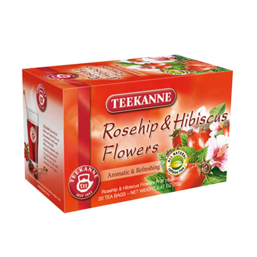 Teekanne Rosehip and Hibiscus Flowers Tea, 20 Ct, 2.5 oz (70 g)