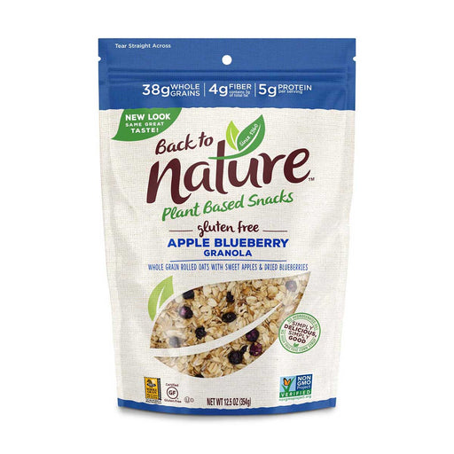 Back to Nature Gluten Free Apple Blueberry Granola, 12.5 oz (354 g)