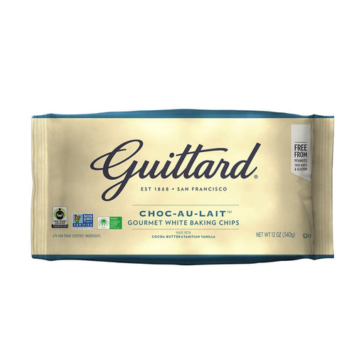Guittard Choc Au Lait White Chocolate Baking Chips, 12 oz (340 g)
