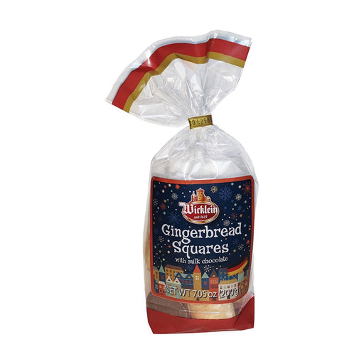 Wicklein Gingerbread Squares with Chocolate Bottom - Cello Bag, 7.1 oz (200 g)