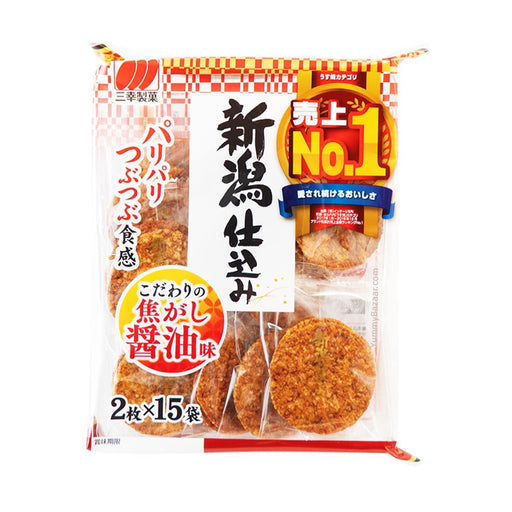 Sanko Japanese Rice Crackers with Roasted Shoyu Soy Sauce, 4.5 oz (127.5729 g)