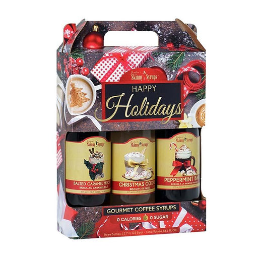 Happy Holidays Salted Syrup Trio by Jordan's Skinny Mixes, 12.7 fl oz (376 ml)