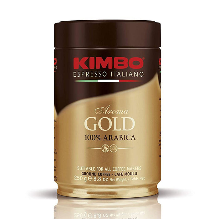 Kimbo Aroma Gold 100% Arabica Ground Coffee, 8.8 oz (250 g)