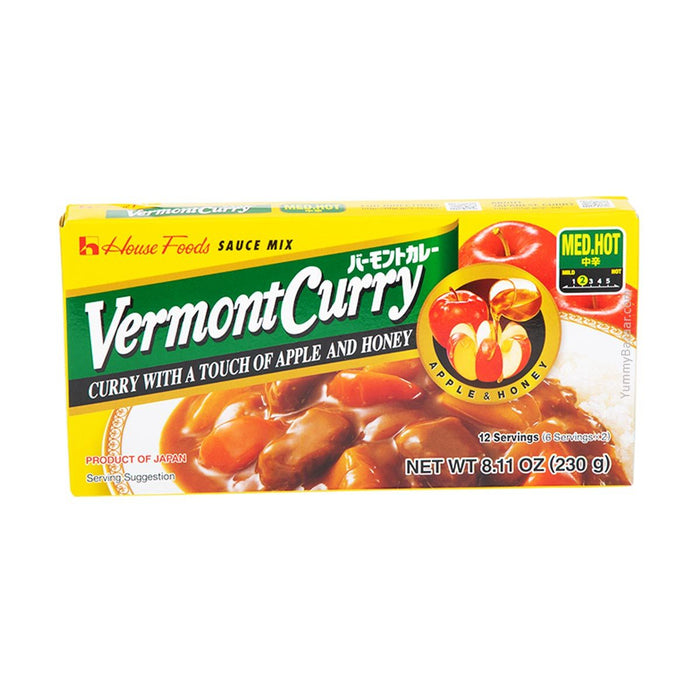House Foods Vermont Curry Sauce, Medium Hot, 8.1 oz (229.6311 g)