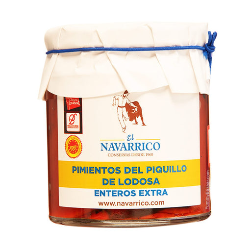 El Navarrico Spanish Whole Piquillo Peppers from Lodosa, 7.7 oz (220 g)