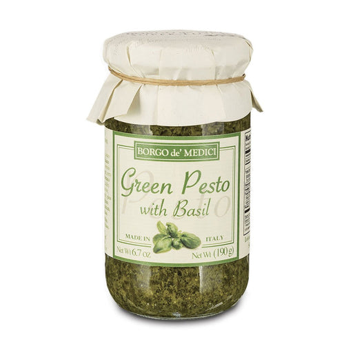 Borgo de Medici Green Pesto Pasta Sauce with Basil, 13.4 oz (190 g)