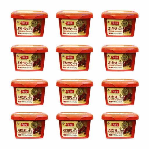 12-Pack Haechandle Gochujang Hot Chile Paste, Made in Korea (1.1 lbs x 12)