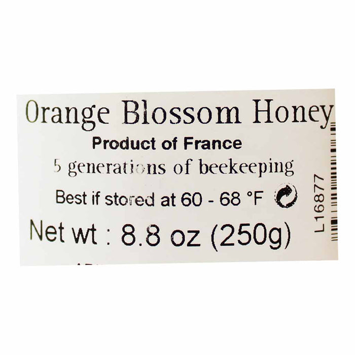 L'Abeille Diligente Orange Blossom Honey 8.8 oz. (250g)