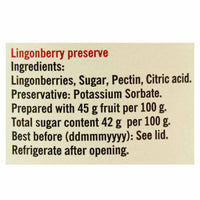 Lingonberry Jam by Hafi 14.1 oz. (400g)