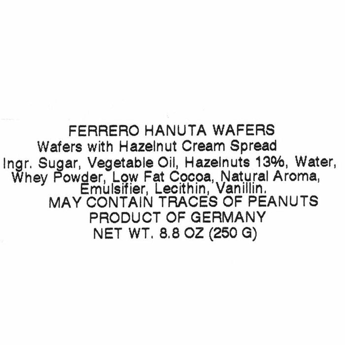 Hanuta Hazelnut Wafers, 7.7 oz (220 g)