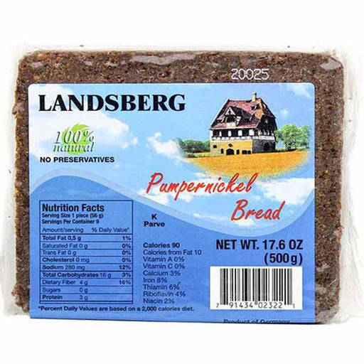 Landsberg Pumpernickel Bread, 17.6 oz (500 g)
