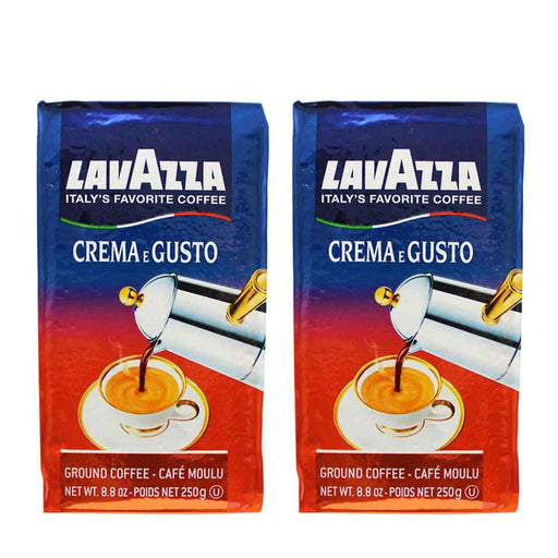 Lavazza Crema e Gusto Ground Coffee, Italian , 8.8-Ounce Bricks (2 Pack)