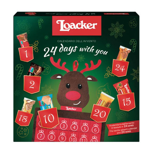 Loacker 24 day Reindeer Advent Calendar, 7.83 oz (222 g)