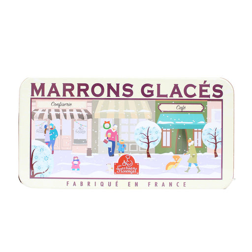 Candied Chestnuts Marrons Glaces by Artisan Provencal in Tin, 5.6 oz (160g)
