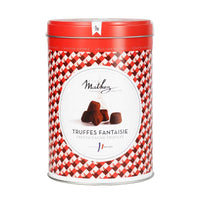 Mathez French Chocolate Truffle in Red Tin, 17.6 oz