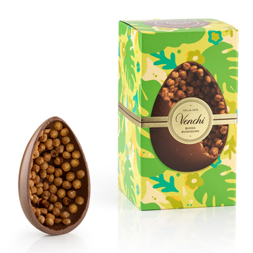 Venchi Gourmet Milk Chocolate Egg with Whole Hazelnuts, 19oz (540g)