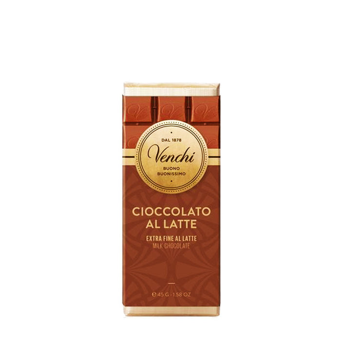 Venchi Milk Chocolate Mini Bar, 1.58 oz (45g)