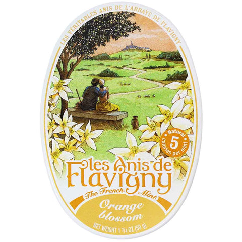 Les Anis de Flavigny Orange Blossom Mints Tin 1.7 oz. (50 g)