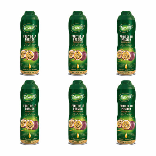 Free Shipping | 6-Pack Teisseire French Passion Fruit Syrup (20 oz. x 6)
