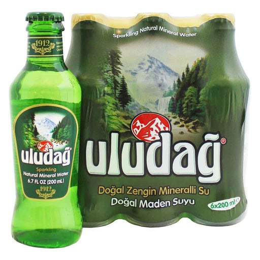 Uludag Sparkling Natural Mineral Water 6 - 6.7 fl. oz. (200 mL) bottles